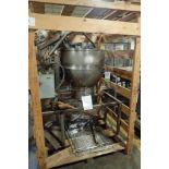 1989 Groen SS tilt kettle, Model DEE/4-60, SN 52082-1, jacketed, 50 psi @ 300 F, 30 in. dia x 24 in.