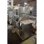 APV twin screw dough pump, SS 8 in. auger, SS hopper, 50 in. L x 32 in. W x 26 in. tall, motor and d