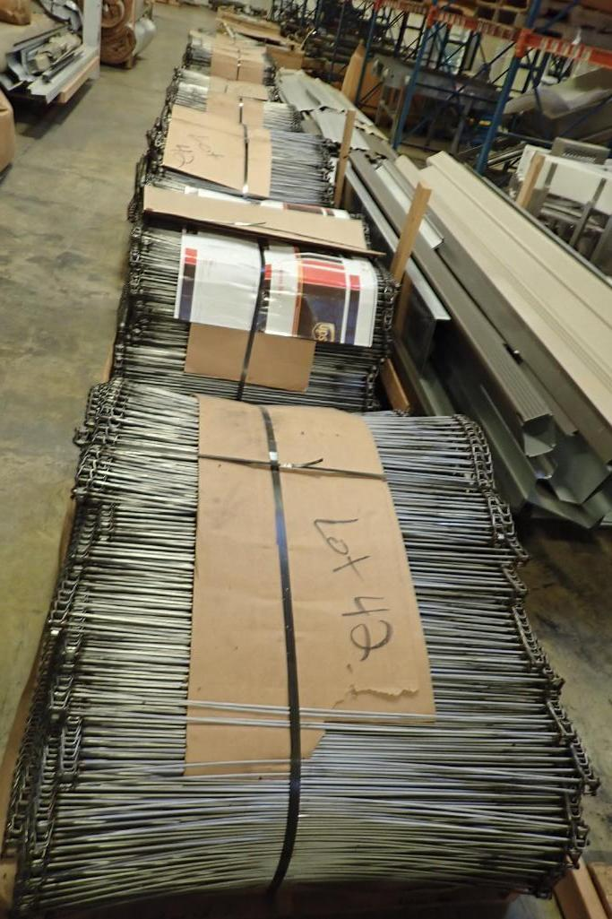 Lotto 117 - (9) skids of SS rod conveyor {Located in Indianapolis, IN}