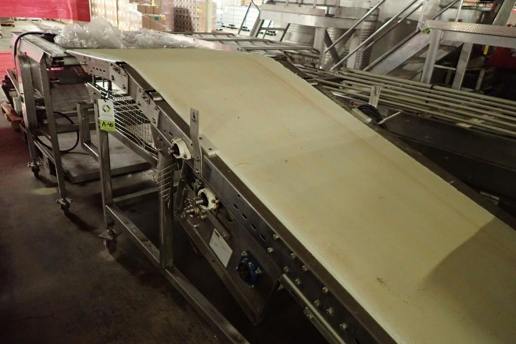Lot 40 - Incline belt conveyor {Located in Indianapolis, IN}