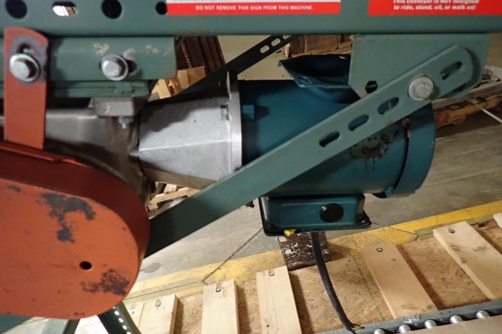 Lotto 103 - Hytrol rubber belt incline conveyor {Located in Indianapolis, IN}