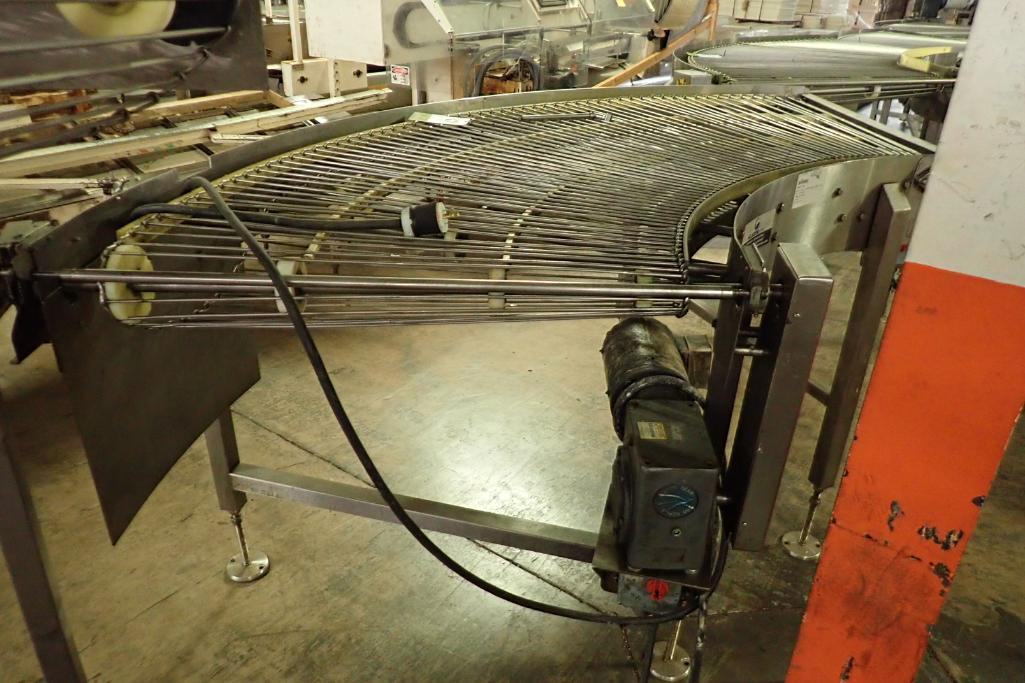 Lot 21 - Keenline SS 90 degree conveyor {Located in Indianapolis, IN}