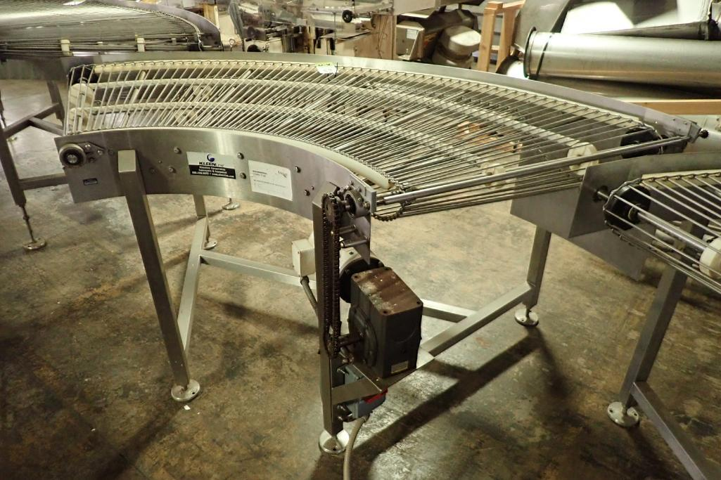 Lot 19 - Keenline SS 90 degree conveyor {Located in Indianapolis, IN}