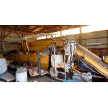 """BUTTON JOHNSON TOMATO HARVESTER WITH 59"""" HARVESTING CONVEYOR, 112""""X24"""" OFFLOAD CONVEYOR, S/N: 2416"""