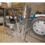 """NISSAN MCPL02A2SLV LPG FORKLIFT WITH 4400 LB. CAPACITY, 187"""" VERTICAL LIFT, SIDE SHIFT, CUSHION"""