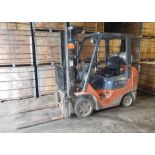 """TOYOTA 7FGCU25 LPG FORKLIFT WITH 5000 LB. CAPACITY, 189"""" VERTICAL LIFT, SIDE SHIFT, CUSHION TIRES,"""