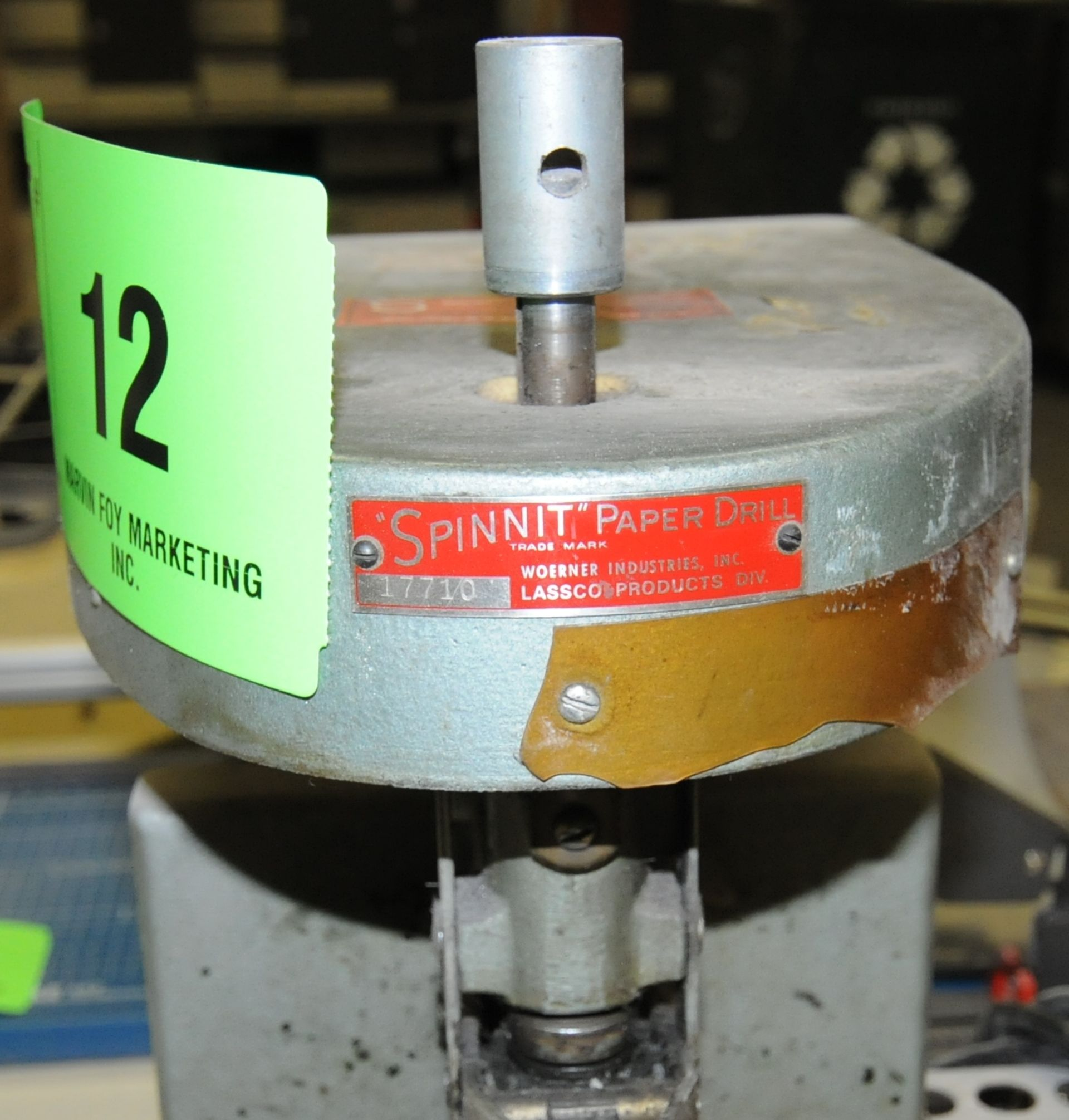 Lot 12 - SPINNIT ELECTRIC BENCH TYPE PAPER DRILL, S/N 17710