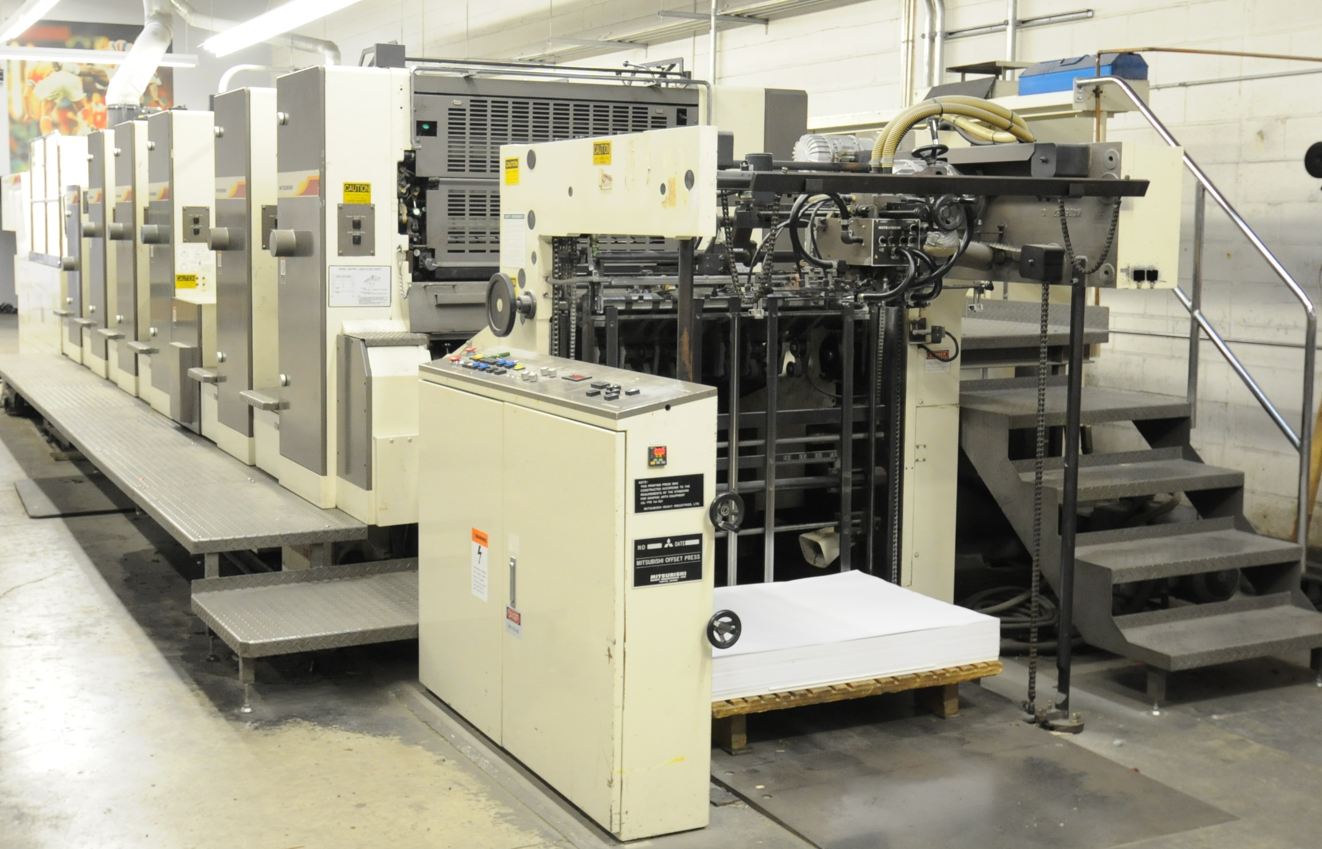 "Lot 20 - MITSUBISHI (2000) 3FR-5 (5) COLOR, 40""X28"" SHEET-FEED OFFSET PERFECTOR PRESS WITH FULLY INTEGRATED"