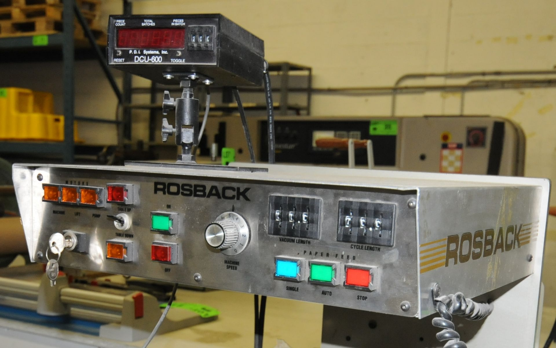 """Lot 34 - ROSBACK (2002) 240B PILE FED PERFORATOR WITH VARIABLE SPEED CONTROL, 29"""" MAX SHEET WIDTH CAPACITY,"""
