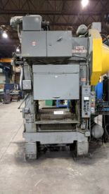 "Lot 1 - BLISS HP2-75-36X30 75 TON CAPACITY STRAIGHT SIDE PRESS WITH 36""X30"" BED, 16"" SHUT HEIGHT, 6"" STROKE,"