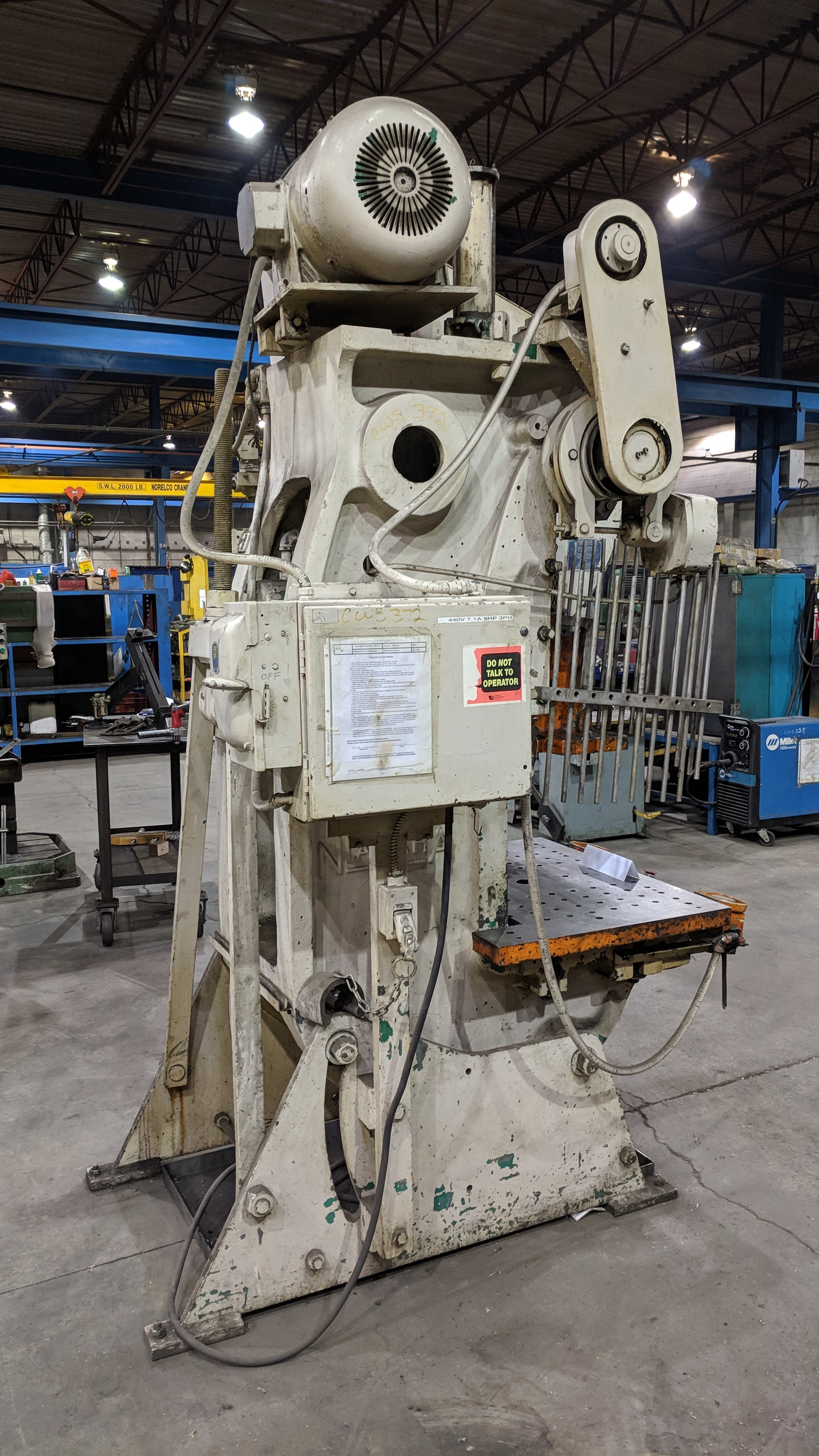 "Lot 2 - NIAGARA A 3-1/2 45 TON CAPACITY OBI PUNCH PRESS WITH 36""X24"" BED, 18""X16"" RAM, 16"" SHUT HEIGHT, 6"""