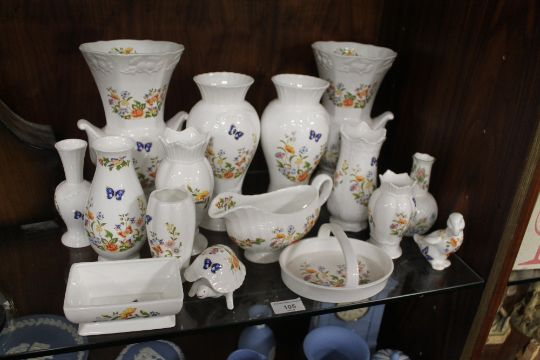 A Quantity Of Aynsley China And Ceramics Mainly Cottage Garden Pattern