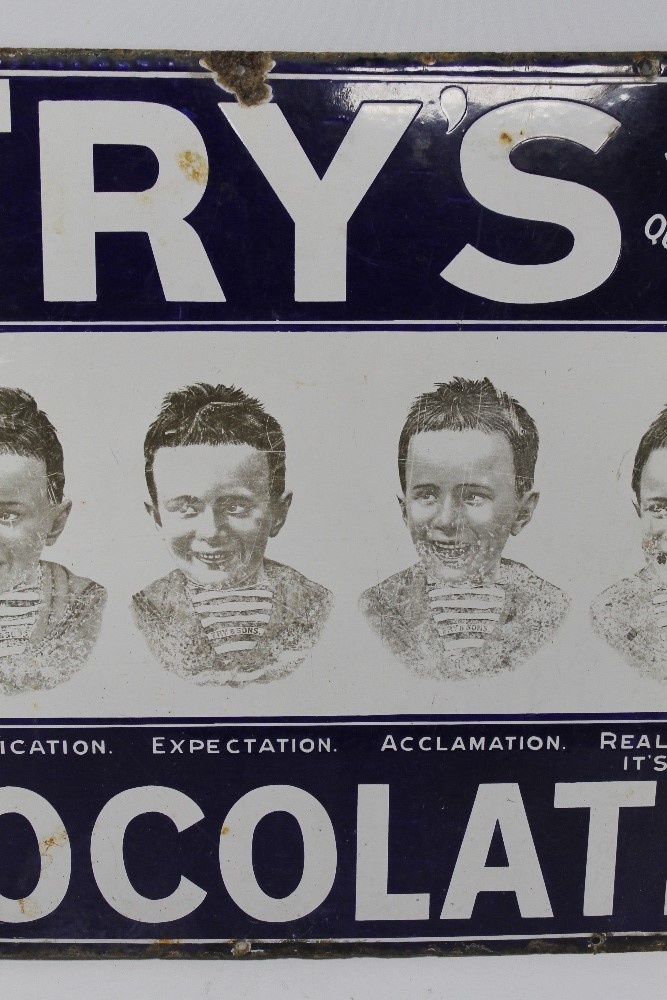 """A FRY'S CHOCOLATE """"FIVE BOYS"""" ENAMEL ADVERTISING SIGN, 76 cm x 56 cm A/F - Image 3 of 5"""