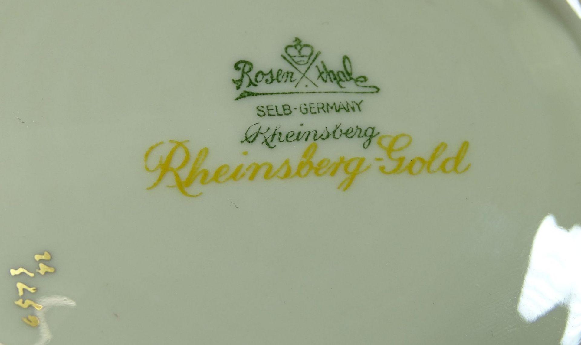 "Los 1034 - gr. Aufsatzschale ""Rosenthal"" Rheinsberg-Gold, H-8 cm, D-30 cm"