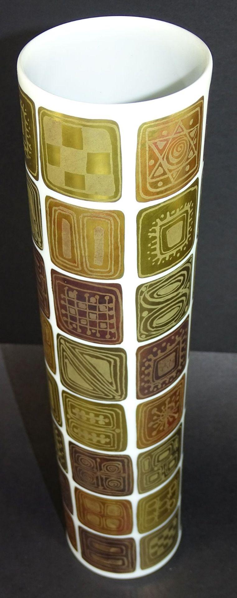 """Los 1055 - 4x """"Rosenthal"""" Entw. B. Winblad, Quatre Coloeurs, Vase H-30 cm"""