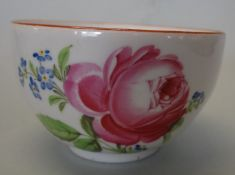 """einzelne Tasse, """"Meissen"""" um 1840, rote Rose Alters-u. Gebrauchsspuren"""