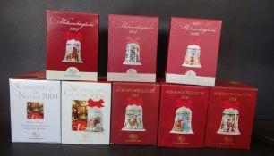 """8x Weihnachtsgocken """"Hutschenreuther"""" in OVP"""