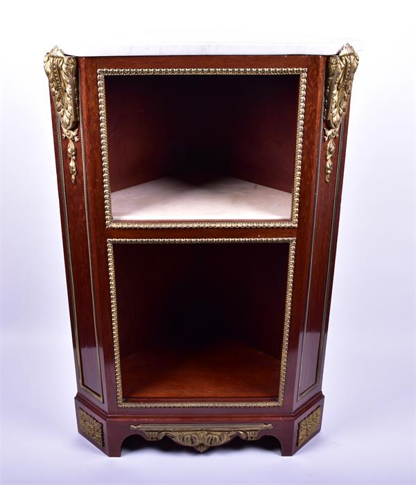 A late 18th century Louis XVI style ormolu mounted mahogany corner cabinet by Jean Henri Riesener ( - Image 2 of 14