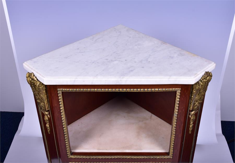 A late 18th century Louis XVI style ormolu mounted mahogany corner cabinet by Jean Henri Riesener ( - Image 13 of 14