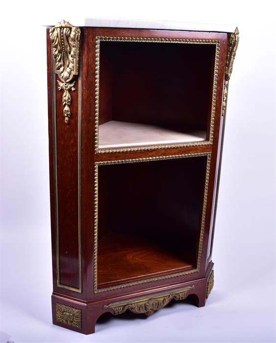 A late 18th century Louis XVI style ormolu mounted mahogany corner cabinet by Jean Henri Riesener ( - Image 3 of 14