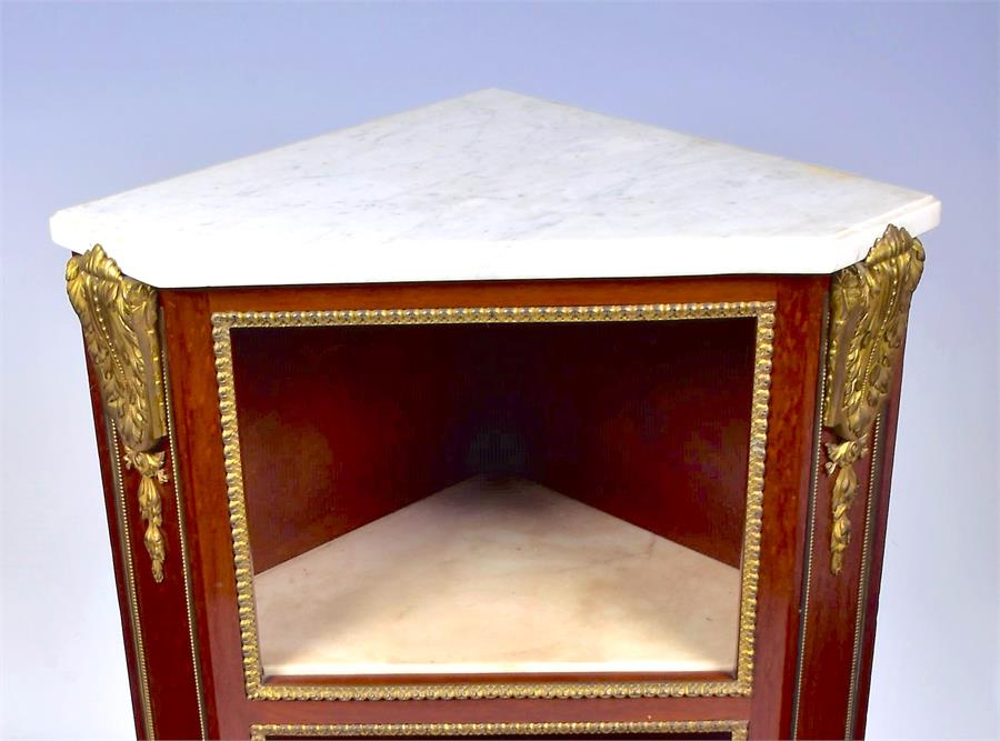 A late 18th century Louis XVI style ormolu mounted mahogany corner cabinet by Jean Henri Riesener ( - Image 10 of 14