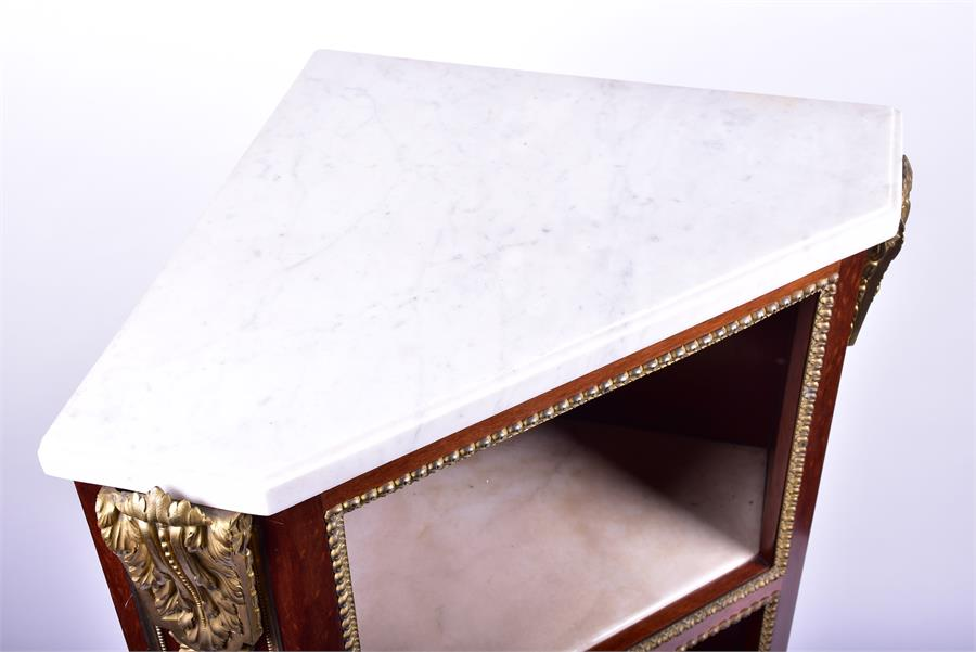 A late 18th century Louis XVI style ormolu mounted mahogany corner cabinet by Jean Henri Riesener ( - Image 7 of 14