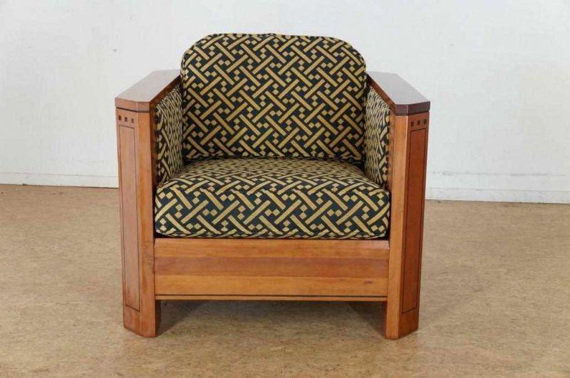 Art Deco Stijl : Art deco stijl fauteuil met stoffen bekleding schuitema stijl