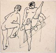 Burkhardt, FritzTuschfederzeichnung auf Papier, 14 x 14,9 cmOhne Titel (1931)Monogrammiert und