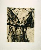 Appelt, DieterRadierung auf Seidenpapier auf Bütten aufgezogen, 49,1 x 39,4 cmKruzifikation (1976)