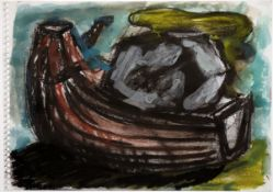 Chevalier, PeterPastell und Gouache auf Zeichenblockpapier, 17,2 x 24 cmOhne Titel (1983)Verso