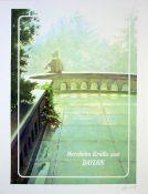 Bulatov, EricFarbserigraphie auf starkem Karton, 68,5 x 49 cmHerzliche Grüße aus Bayern (1989)