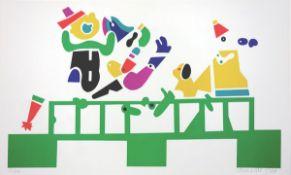 Alt, OtmarFarblithographie auf Bütten, 35 x 60,1 cmOhne Titel (1968)Signiert und datiert. Nummeriert