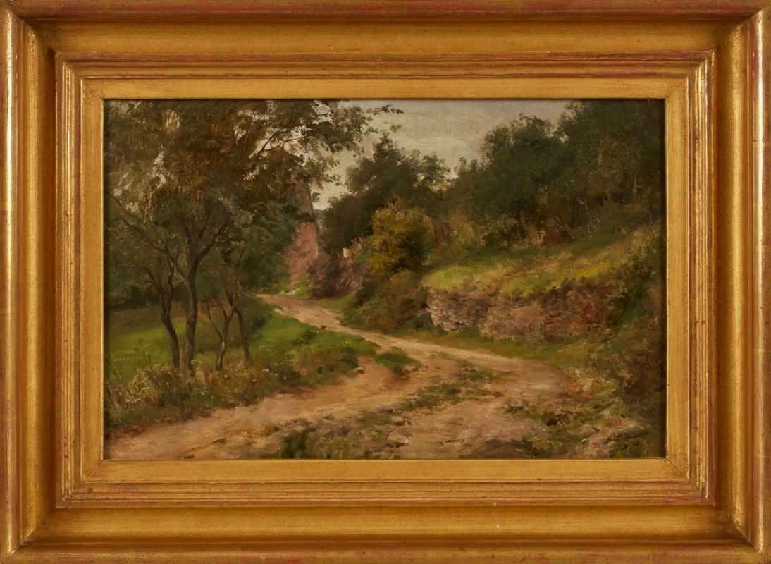 Lot 17 - Gemälde Adolf Hoeffler1925 Frankfurt - 1898 Frankfurt Frankfurter Landschaftsmaler. Schüler seines