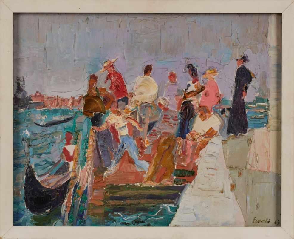 Lot 6 - Gemälde Reinhold Ewald1890 Hanau - 1974 Hanau 1907-11 in Berlin bei Richard Böhland und Max Koch. Ab