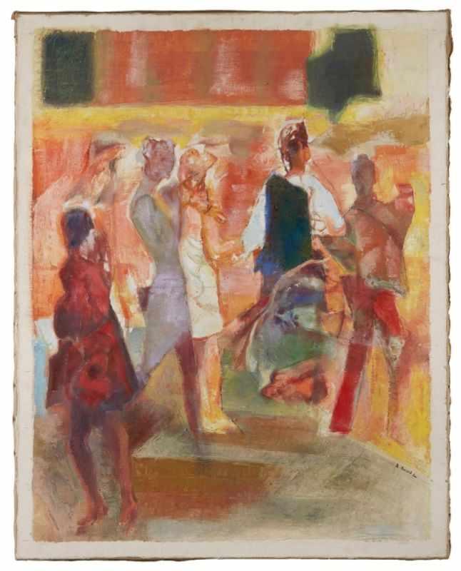 "Lot 8 - Gemälde Reinhold Ewald1890 Hanau - 1974 Hanau ""Chez Chartier - Paris"" u. re. sign. u. dat. R."