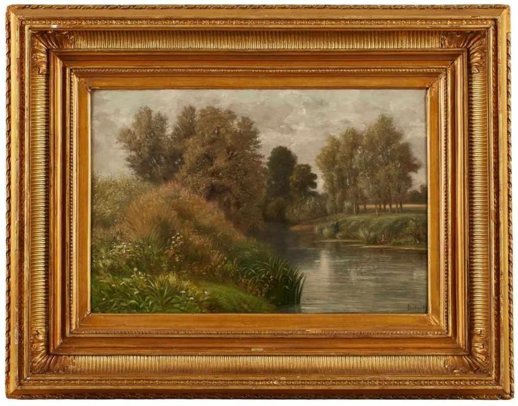Lot 32 - Gemälde Peter Burnitz1824 Frankfurt - 1886 Frankfurt Frankfurter Landsch.-Maler. Mitgl. d.