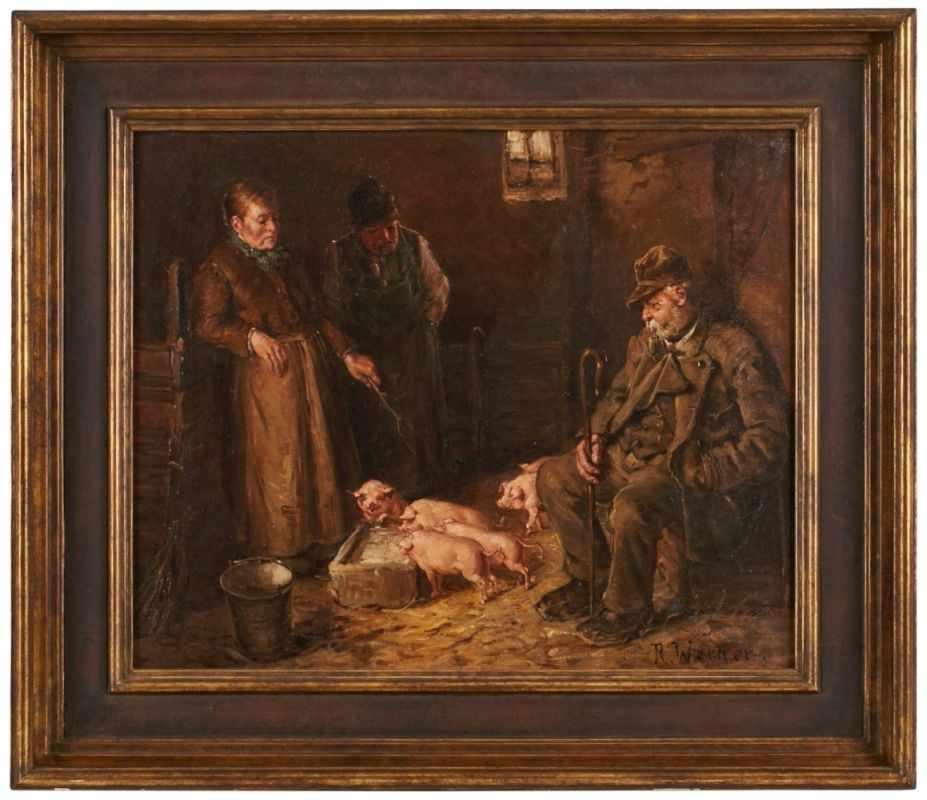 Lot 35 - Gemälde Reinhold Werner1864 Frankfurt - 1939 Frankfurt Frankfurter Genremaler, Schüler von