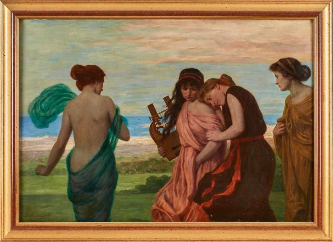 Lot 60 - Gemälde Ludwig von Langenmantel1854 Kehlheim - 1922 München 1869 Schüler der Kunstgew.-Schule