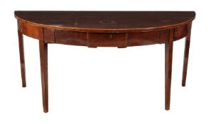 A George III mahogany and inlaid side or serving table