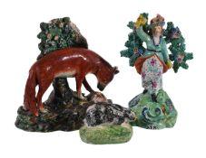 Three items of British pearlware