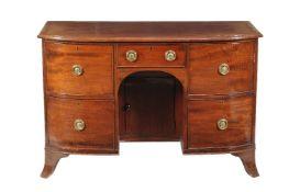 A George III mahogany dressing table