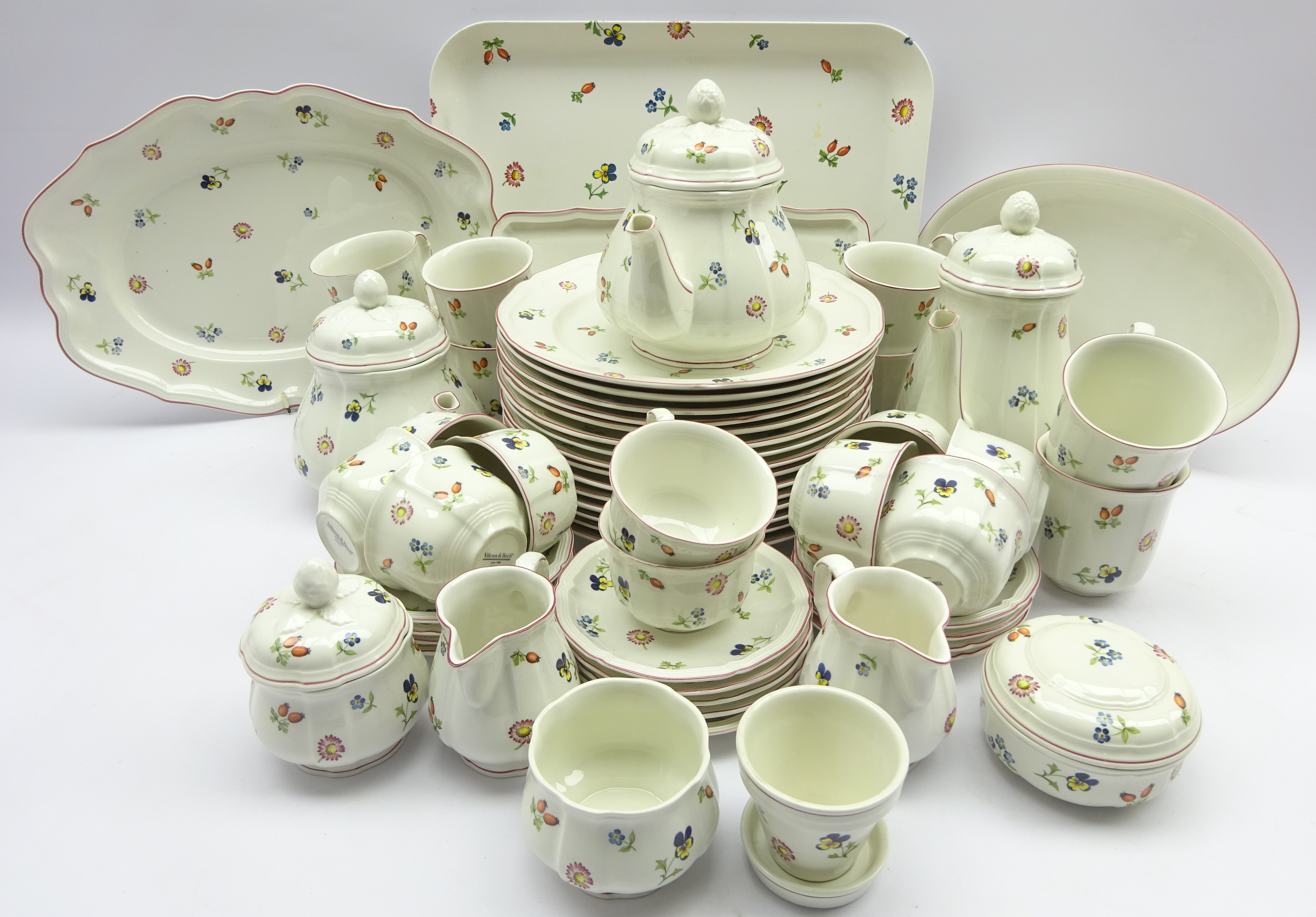 Lot 20 - Villeroy & Boch 'Petite Fleur' comprehensive dinner, tea and coffee service for ten persons,