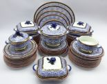 Lot 10 - Extensive Victorian Royal Worcester dinner service retailed by Goode & Co,