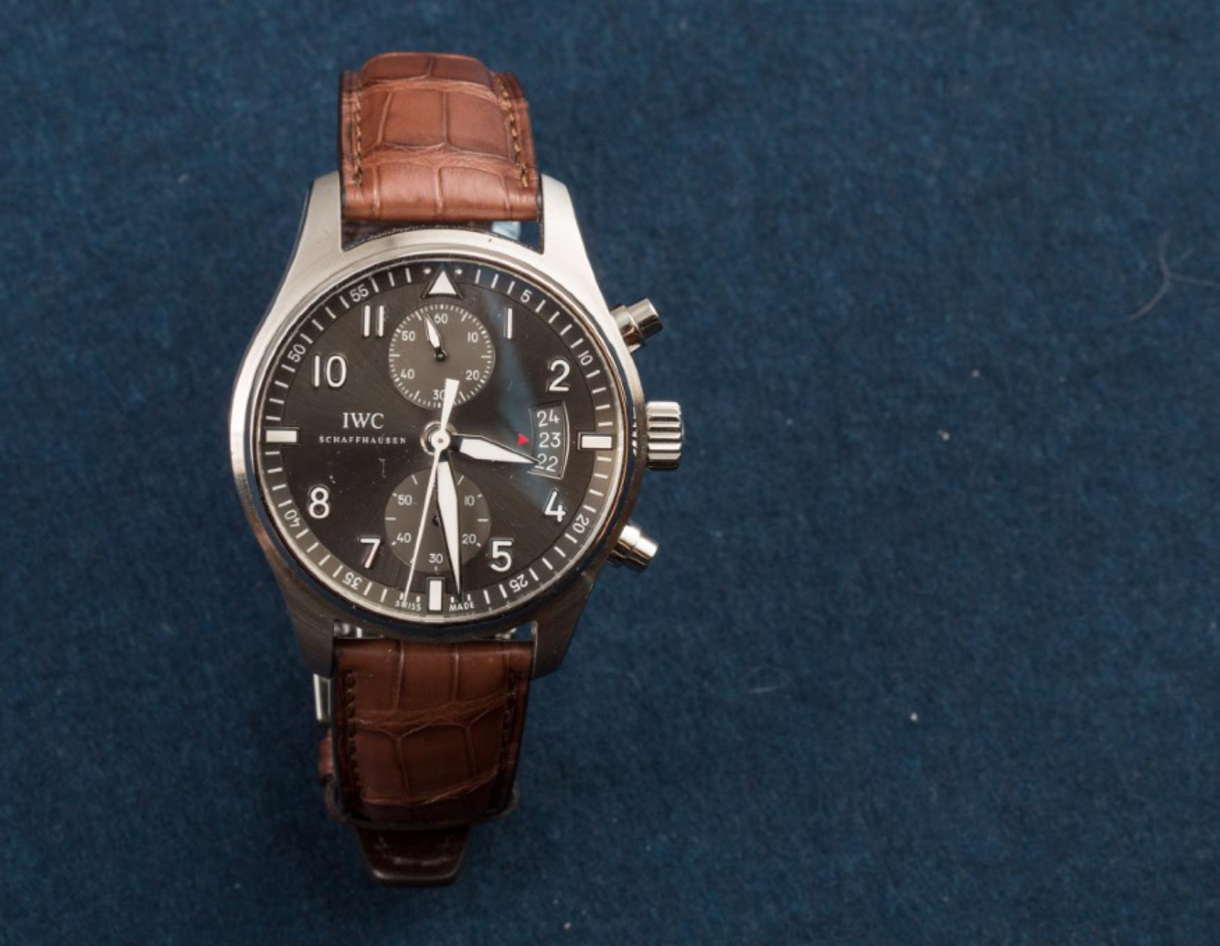 Lot 8 - IWC,New Old Stock, Pilot Spitfire Chronograph