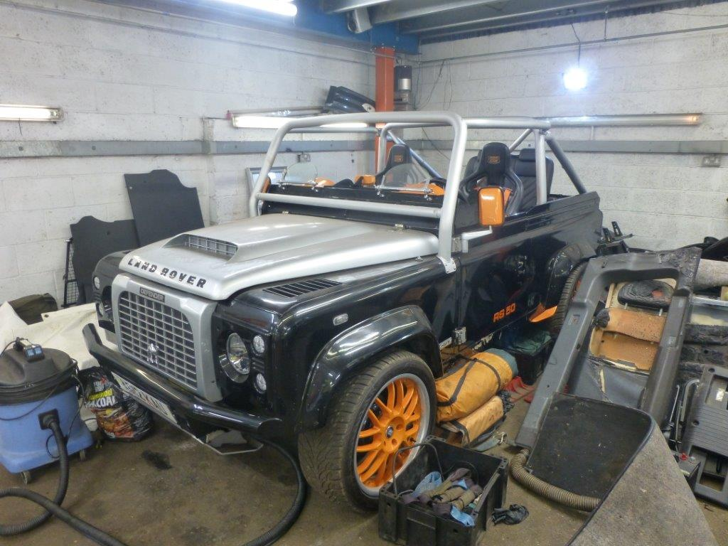Modified Land Rover Defender 90 Swb V8 Falcon Open Top Buggy Light Lights Lot 3