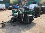 Lot 8 - Ransomes TG4650 seven gang PTO driven trailed cylinder mower complete, with another TG4650...