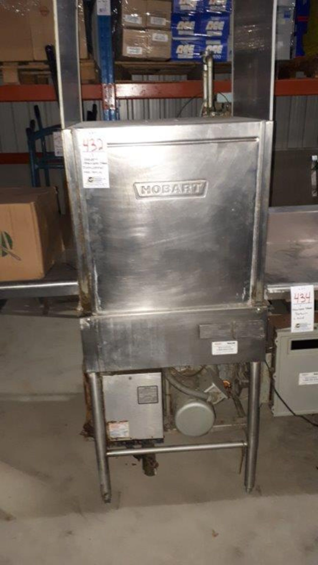 Hobart stainless steel dishwasher, model: AM14