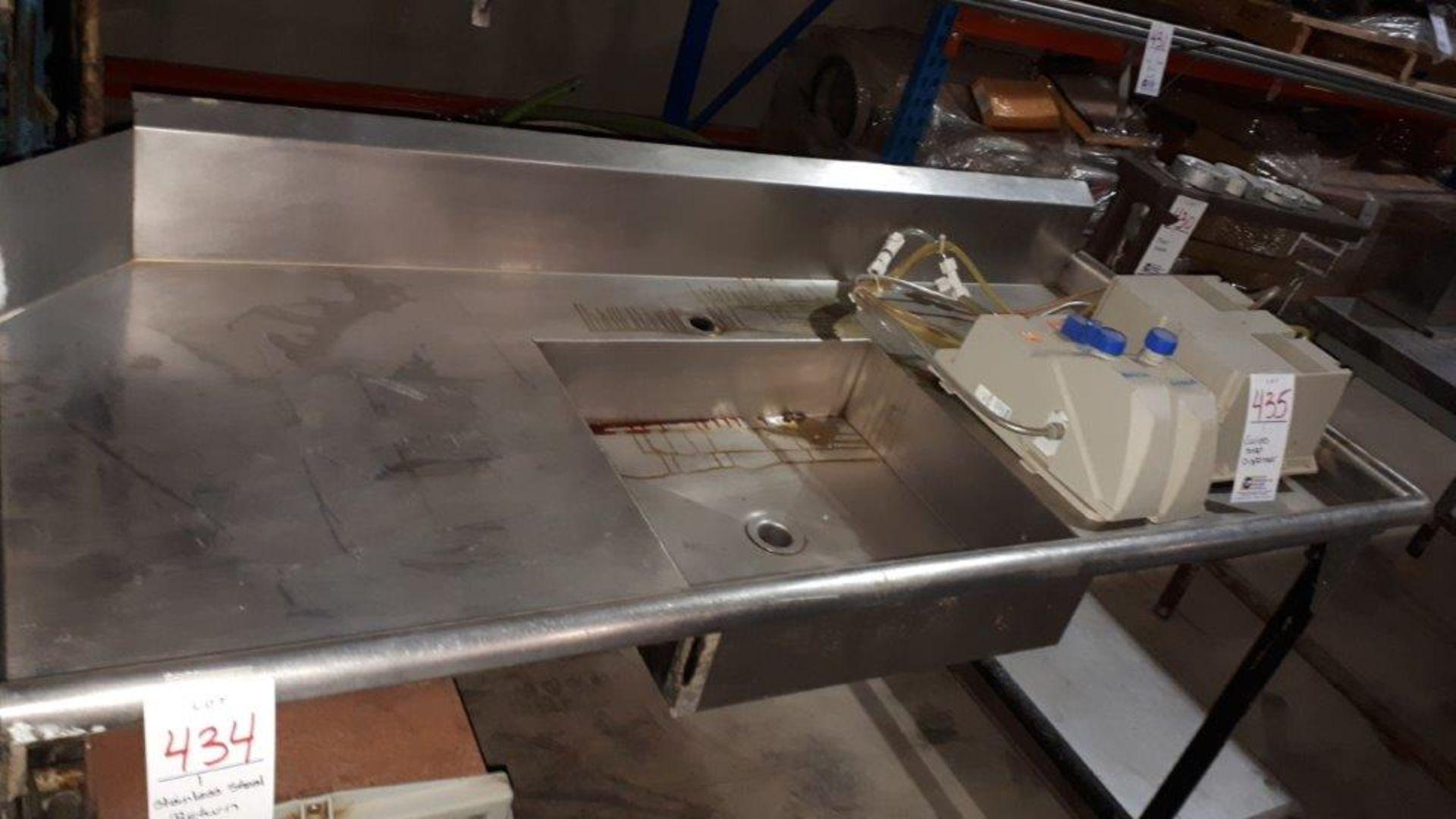 Stainless steel return & sink