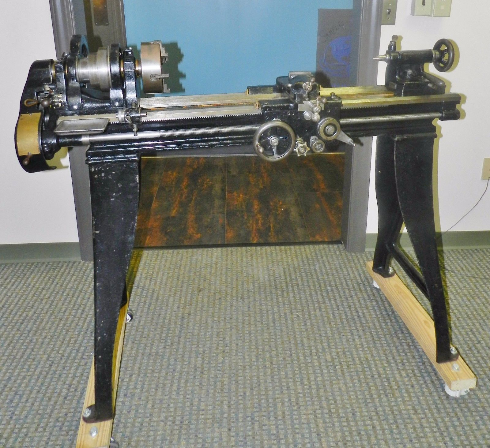 "Lot 65 - South Bend 25-A 9"" x 4' Antique Lathe"