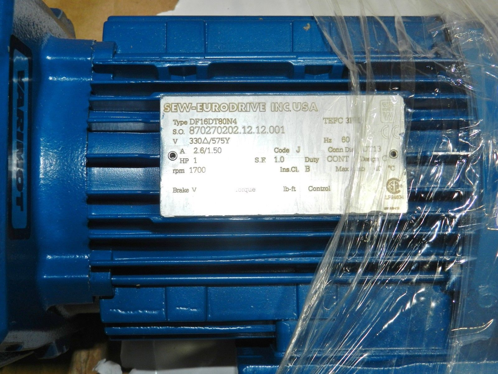 Lot 29 - Sew-Eurodrive 1 HP Motor